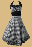 Hell Bunny Gingham 50's Prom Dress